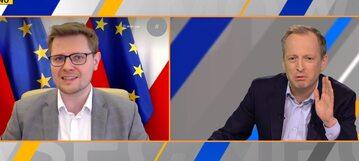 Michał Woś i Konrad Piasecki w TVN24