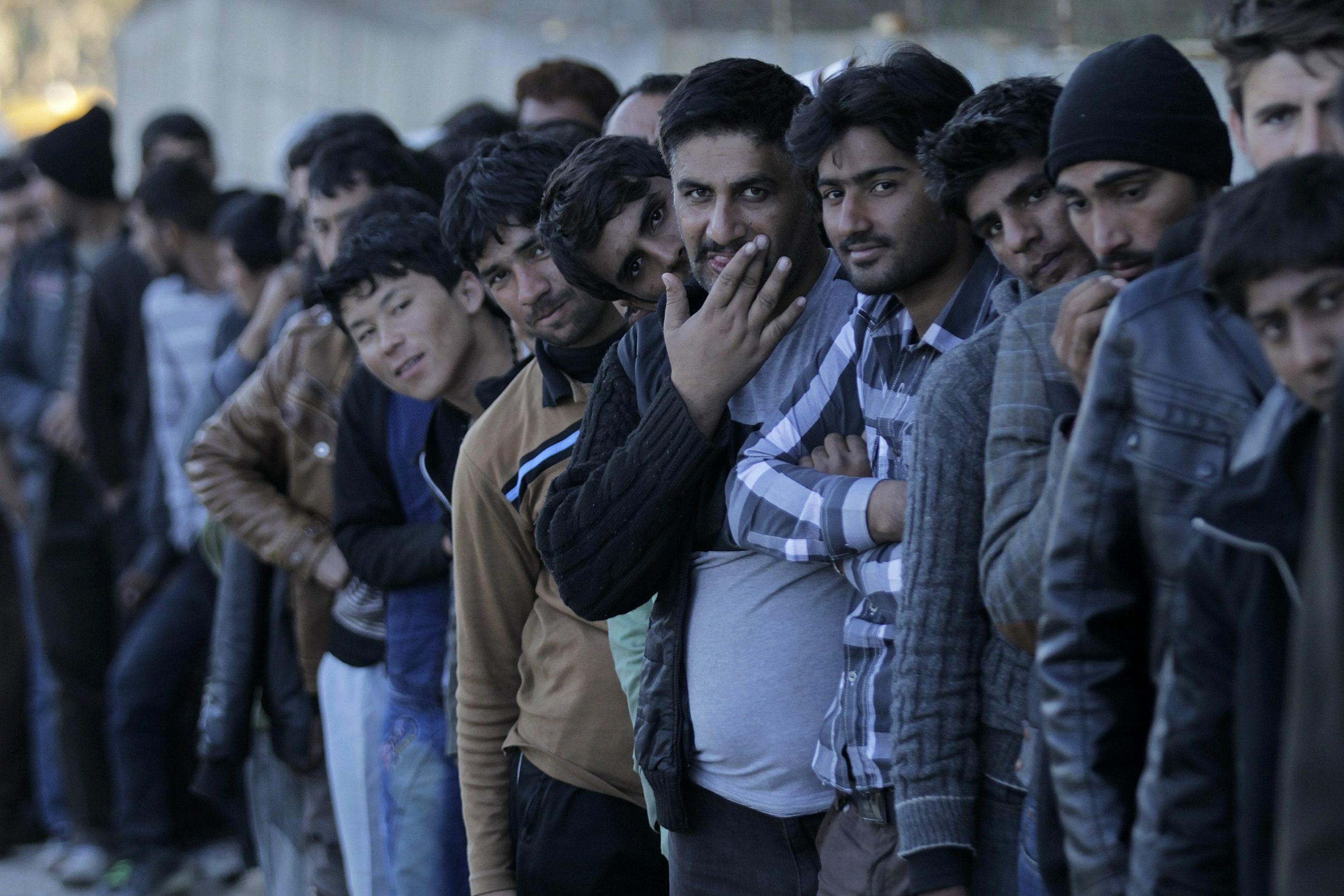 Migranci na greckiej wyspie Lesbos