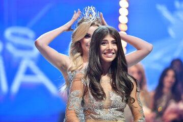 Miss Polonia 2020 Natalia Gryglewska podczas finału konkursu