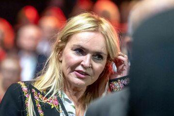 "Monika Olejnik, dziennikarka prowadząca program ""Kropka nad i"" w TVN24"