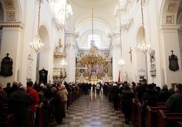 Msza św. w kościele Seminaryjnym p.w. Wniebowzięcia NMP i św. Józefa Oblubieńca przy Krakowskim Przedmieściu w Warszawie