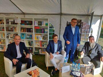 Na zdjęciu od lewej: Dariusz Lipiński, Jakub Skworz, Tadeusz Zysk i Adam Szulc