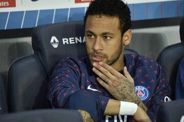 Neymar podczas meczu Paris Saint-Germain