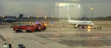 Niebezpieczny incydent na lotnisku w Hanowerze