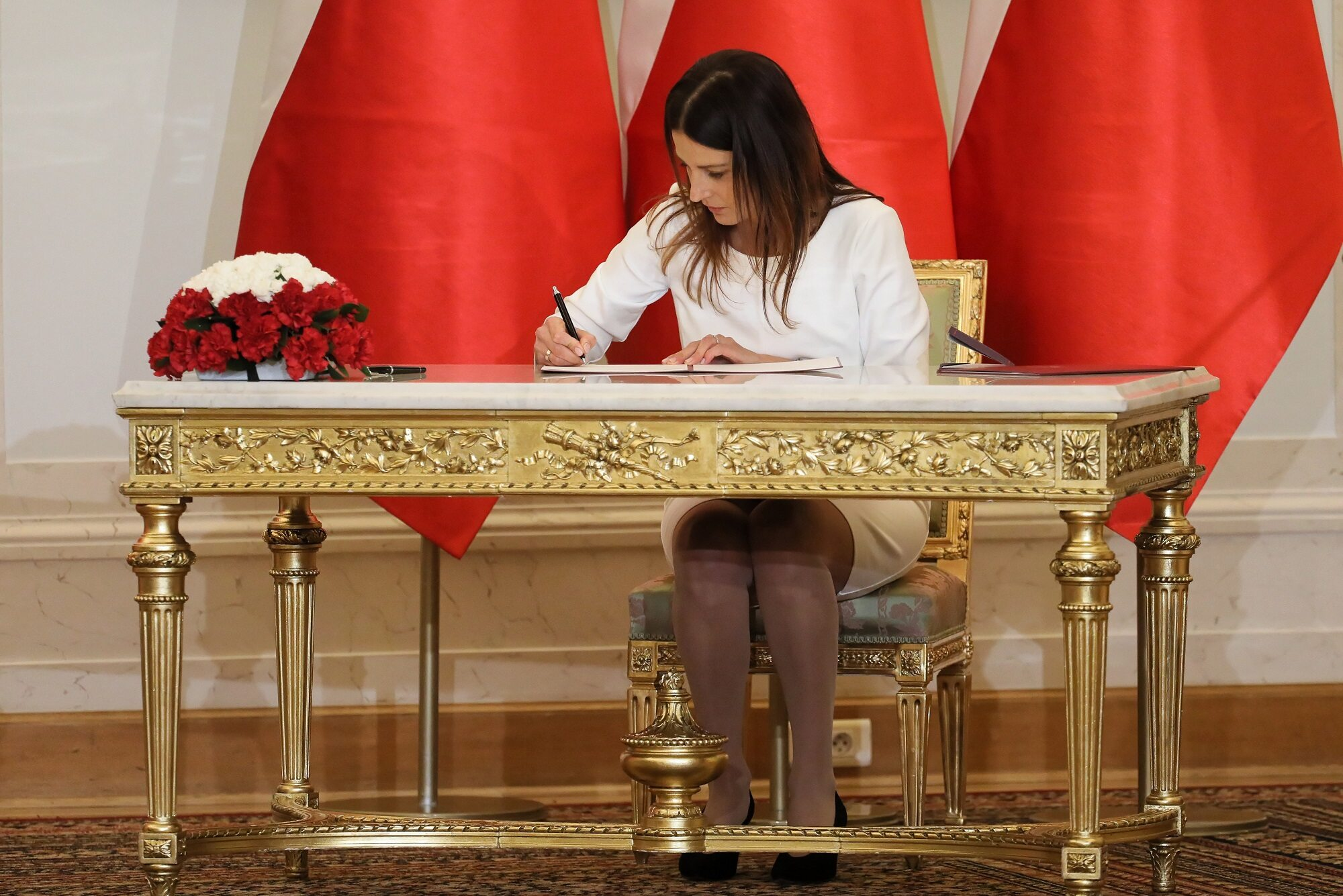Nowa minister sportu Danuta Dmowska-Andrzejuk podczas uroczystości w Pałacu Prezydenckim w Warszawie.