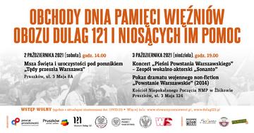 Obchody Dnia Pamięci Więźniów Obozu Dulag 121 i Niosących Im Pomoc 2-3 października 2021