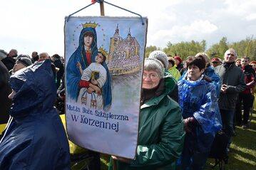 Obchody Święta Miłosierdzia Bożego w Sanktuarium Bożego Miłosierdzia w Krakowie Łagiewnikach.