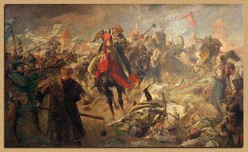 Obraz Fritza Grotemeyera Bitwa pod Chojnicami 1454