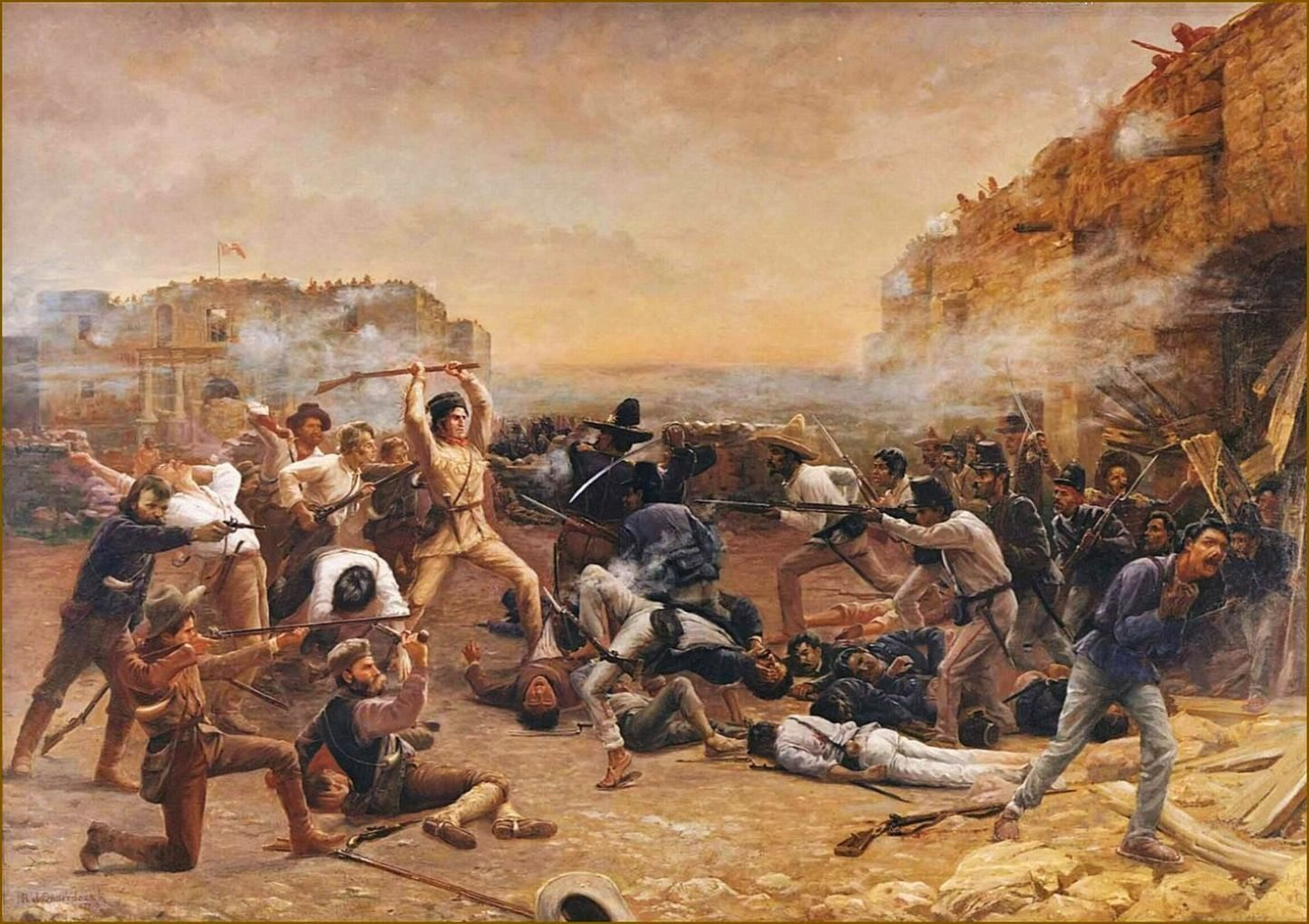 "Obraz ""Upadek Alamo"" Roberta Jenkinsa Onderdonka"