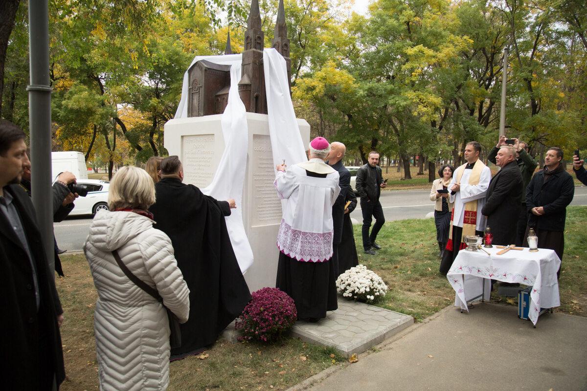 Odsłonięcie pomnika kościoła pw. św. Klemensa w Odessie