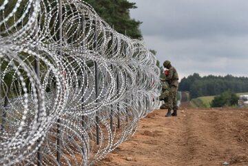 Ogrodzenie na polsko-białoruskiej granicy