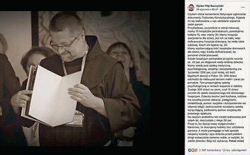 Ojciec Filip Buczyński miał problem, by na Facebooku promować hospicjum perinatalne