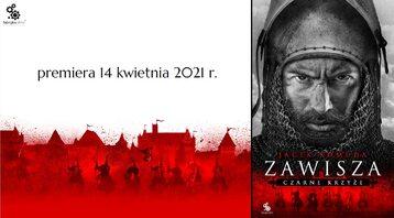 """Okładka książki """"Zawisza. Czarne krzyże"""" autorstwa Jacka Komudy. Premiera 14 kwietnia 2021 r."""