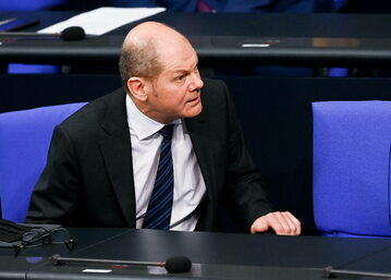 Olaf Scholz w Bundestagu