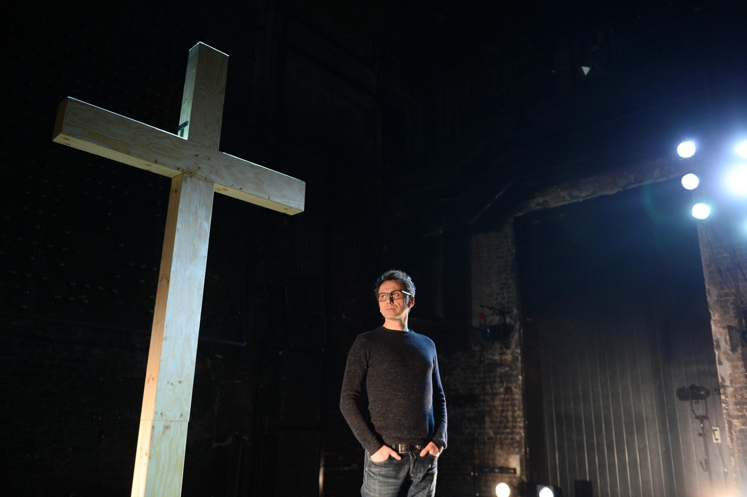 "Oliver Frljić, reżyser spektaklu ""Klątwa"""