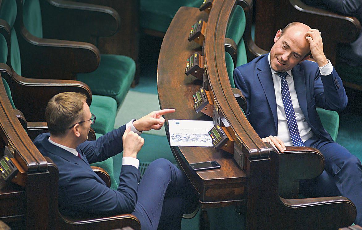 Opozycja obrała kurs na kolejną porażkę za trzy lata. Na zdjęciu: posłowie Borys Budka i Sławomir Nitras.