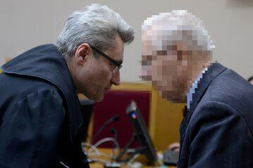 Oskarżony były generał SB Józef S. (P) podczas procesu w Sądzie Rejonowym Warszawa-Mokotów
