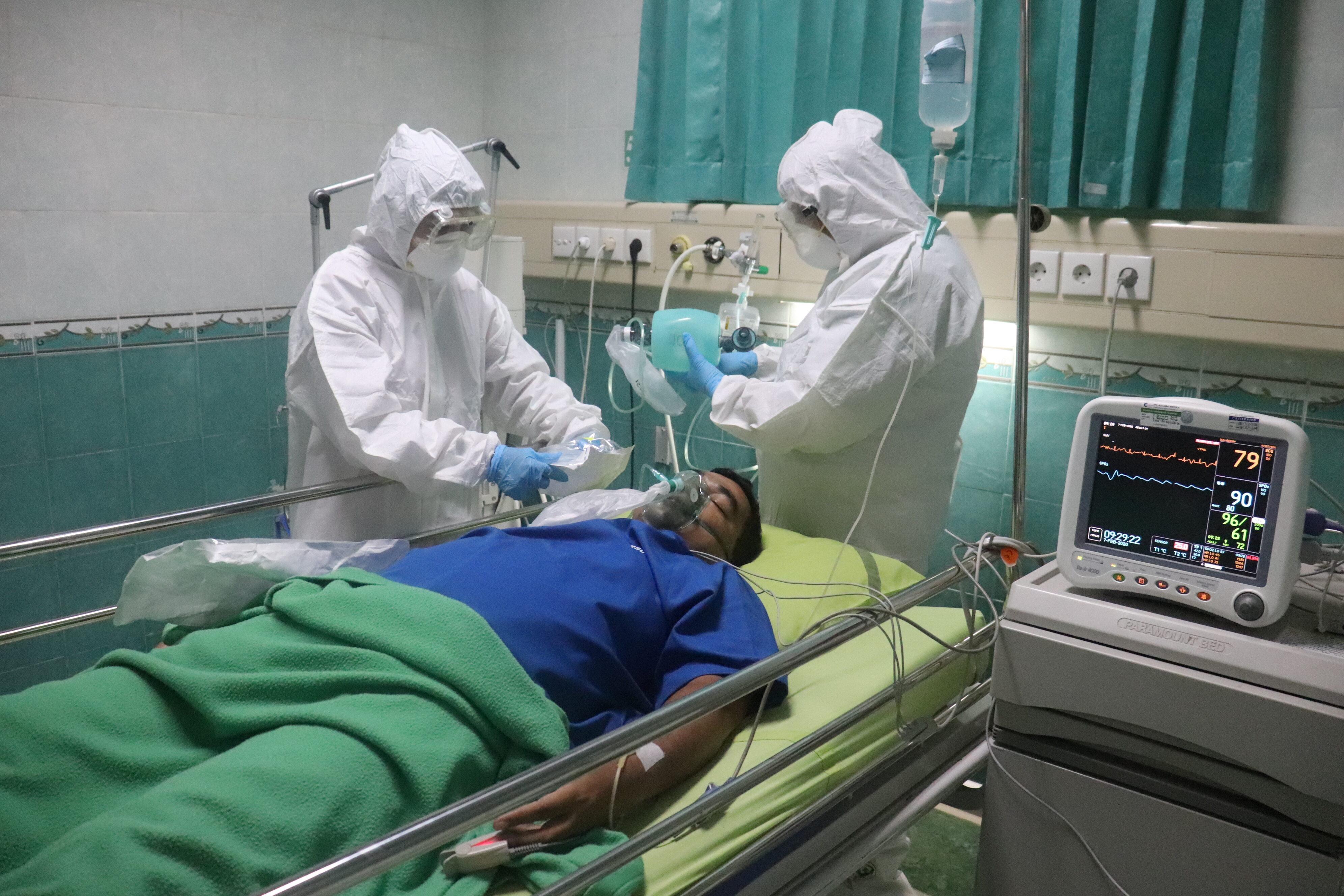 Pacjent z koronawirusem
