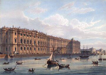Pałac Zimowy na litografii z XIX wieku
