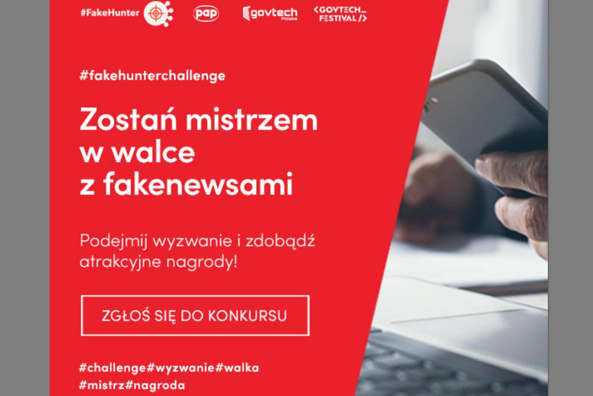 PAP i GovTech Polska zapraszają do konkursu #FakeHunter Challenge