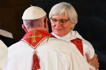 Papież Franciszek i bp Kościoła Szwecji ks. Antje Jackelén