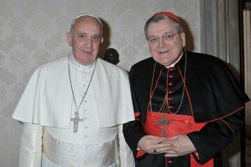 Papież Franciszek i kardynał Raymonde Burke