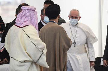 Papież Franciszek podczas wizyty w Iraku
