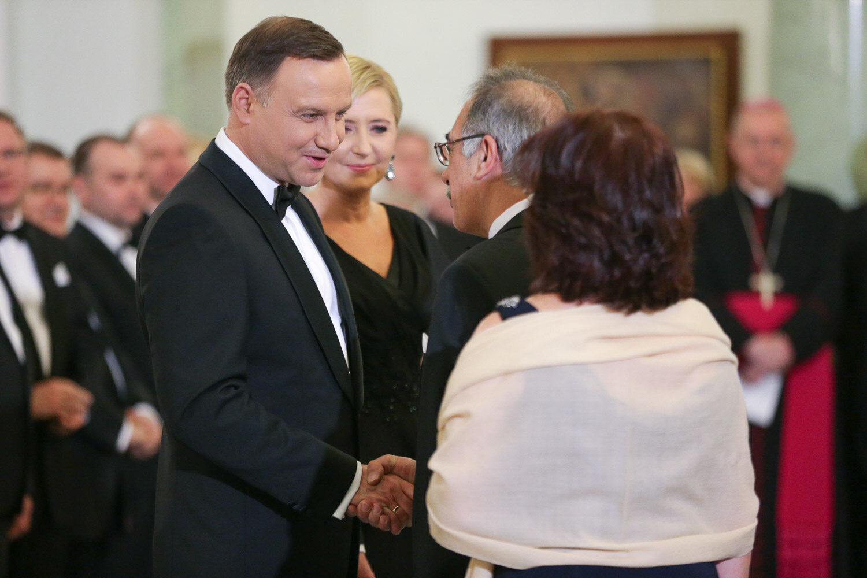 Para prezydencka na spotkaniu z korpusem dyplomatycznym