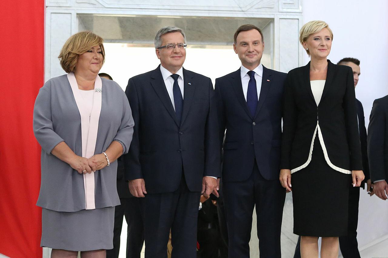 Para prezydencka z Anną i Bronisławem Komorowskimi w Sejmie po zakończeniu obrad Zgromadzenia Narodowego (6 sierpnia 2015)