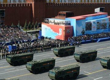 Parada z okazji Dnia Zwycięstwa na Placu Czerwonym w Moskwie