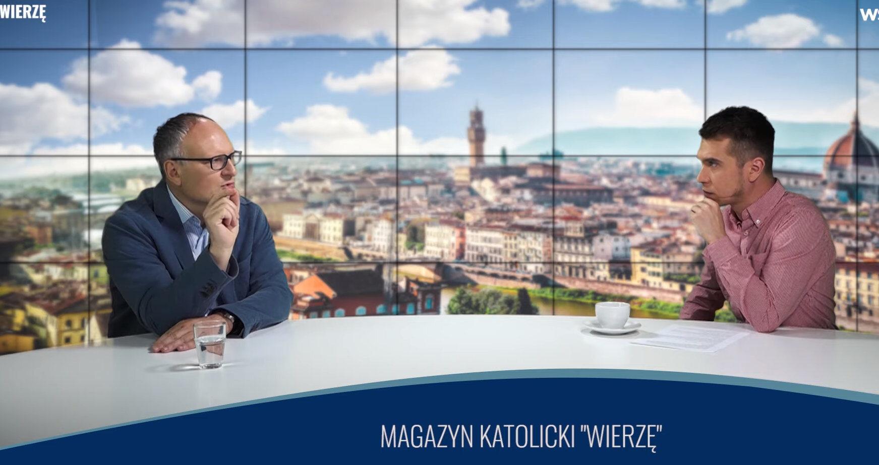 """Paweł Lisicki i Marek Miśko w programie """"Wierzę"""""""