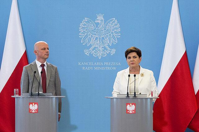 Paweł Szałamacha i Beata Szydło