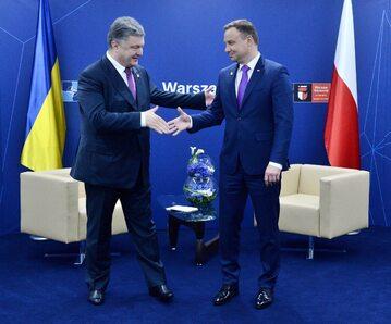 Petro Poroszenko (b. prezydent Ukrainy) i Andrzej Duda (prezydent RP)