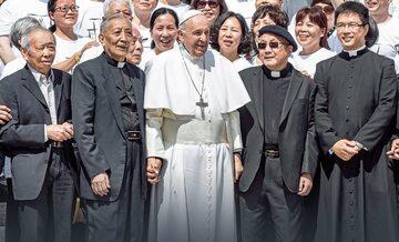 Pielgrzymi z Chin podczas audiencji u papieża Franciszka, Watykan, 22 maja 2019 r.