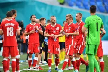 Piłkarze reprezentacji Polski podczas meczu ze Szwecją na Euro 2020