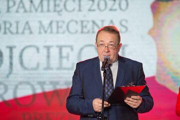 "Piotr Gociek podczas gali ""Strażnik Pamięci"""