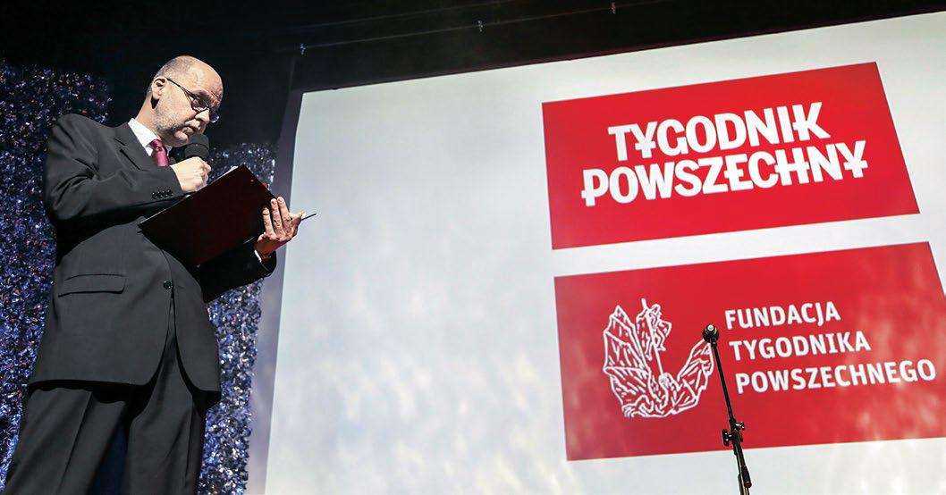 """Piotr Mucharski, redaktor naczelny """"Tygodnika Powszechnego"""", na jubileuszu 70-lecia pisma w 2015 r."""