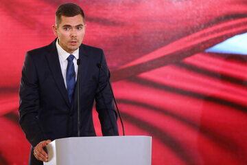 """Piotr Zychowicz podczas gali tygodnika """"Do Rzeczy"""" Strażnik Pamięci"""