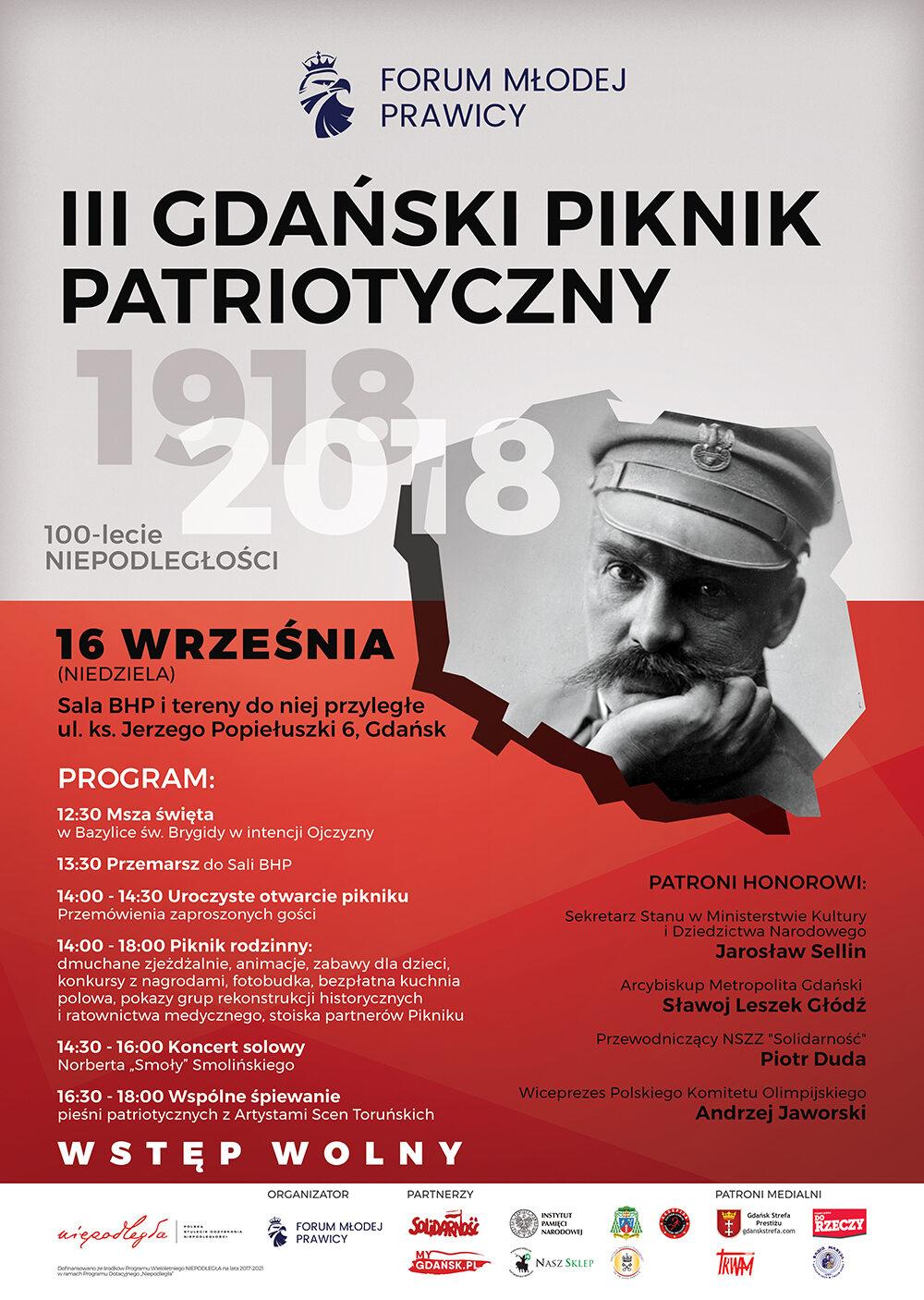 Plakat III Gdański Piknik Patriotyczny