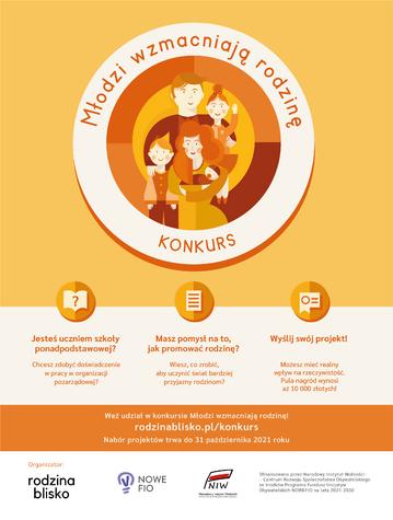 Plakat Młodzi wzmacniają rodzinę