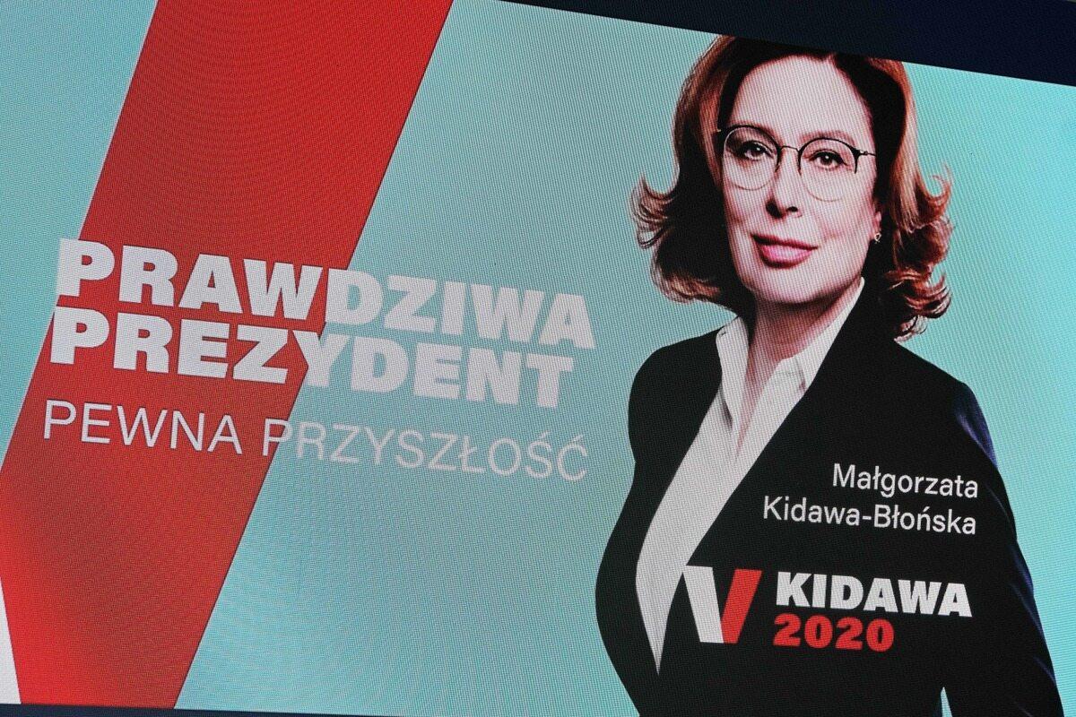 Plakat wyborczy Małgorzaty Kidawy-Błońskiej
