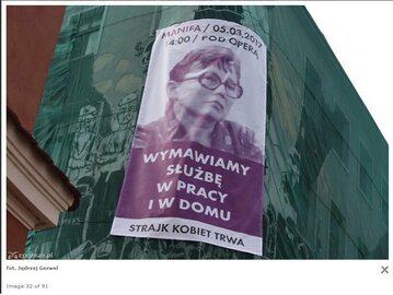 Plakat z wizerunkiem Anny Walentynowicz