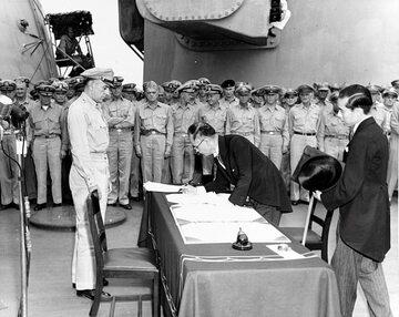 Podpisanie kapitulacji przez Japonię, 2 września 1945 rok