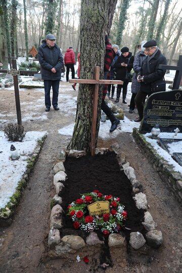 Pogrzeb Ireny Dziedzic na cmentarzu w podwarszawskich Laskach.