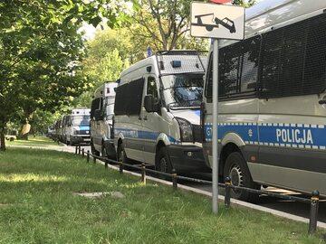 Policja pod Sejmem