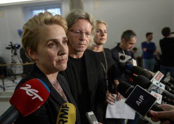 Politycy Nowoczesnej, od lewej: Joanna Scheuring-Wielgus, Krzysztof Mieszkowski i Joanna Schmidt