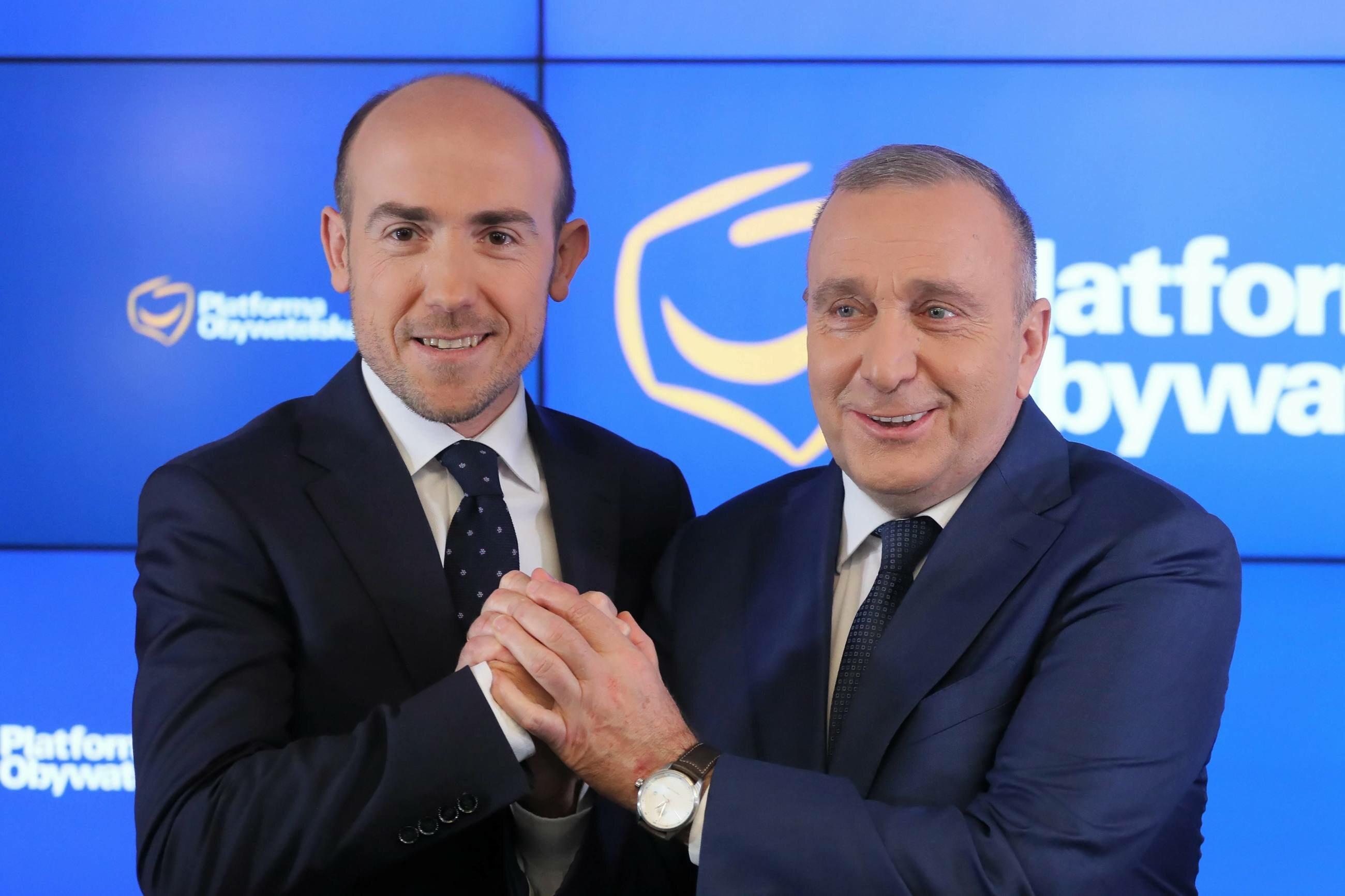 Politycy PO: Borys Budka i Grzegorz Schetyna