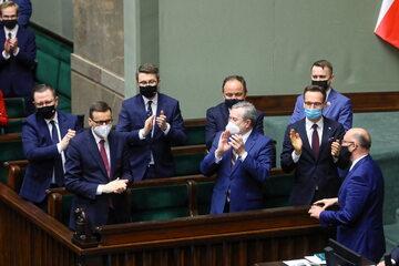 Politycy w ławach rządowych w Sejmie