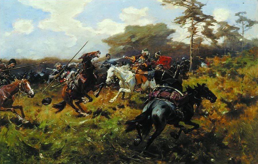 Polska jazda na obrazie Józefa Brandta, 1890 r.