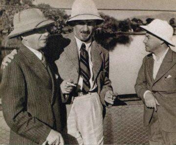 Polska Komisja Studiów na Madagaskarze w 1938 r. Od prawej: mjr M. Lepecki, dyr. L. Alter i inż. S. Dyk